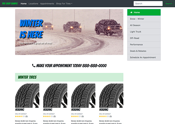Tire Store Sample